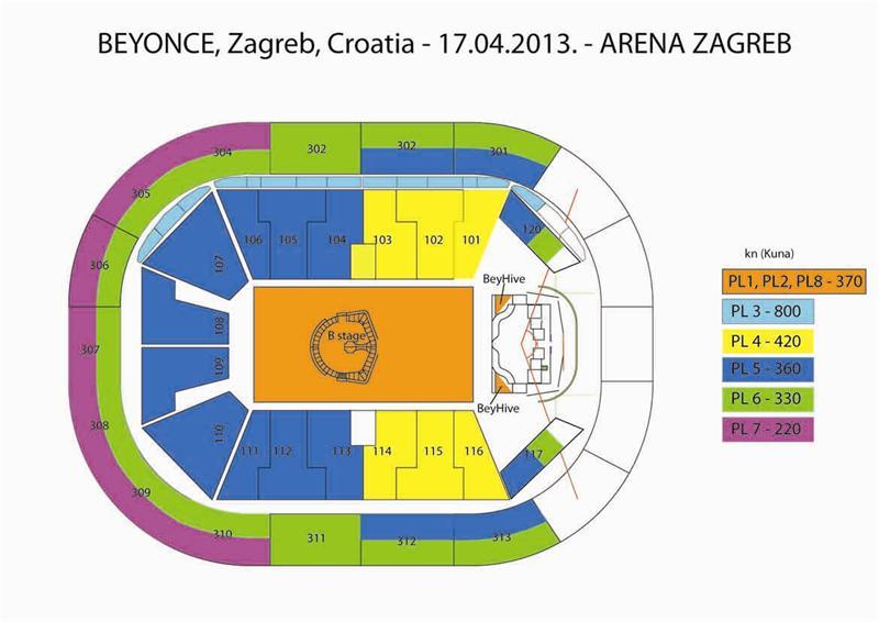 Arena Zagreb Zagreb Arena Beyonce